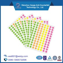 Custom Office Products round label,coding Labels,color coding Labels