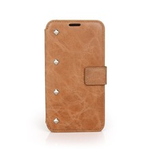 Top design custom genuine cow leather mobile phone protect case for Samsuang galaxy S4
