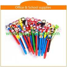 cartoon shape lovely polymer clay ball pen female roller ballpoint pen