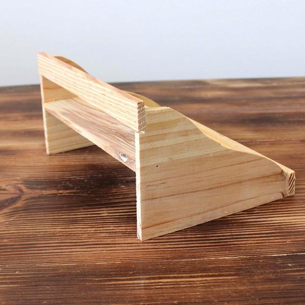 pine wood plant shelf