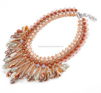 glass beads Jewelry Main Material and Necklaces Jewelry Type, Latest Design Beads Necklace