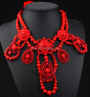 2015 new spring summer statement necklace beaded collar necklace N2161-1