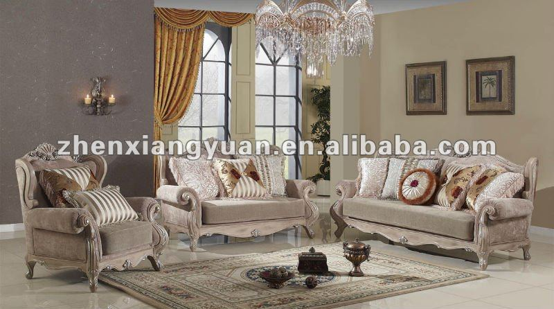 Classic wooden arab style living room fabric sofa buy classic wooden arab style living room for Arabian inspired living room
