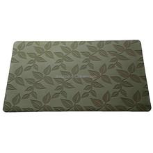 brand customize print ing eco-friendl y floor mat floor carpet flock mat