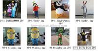 9 pieces mascot costume