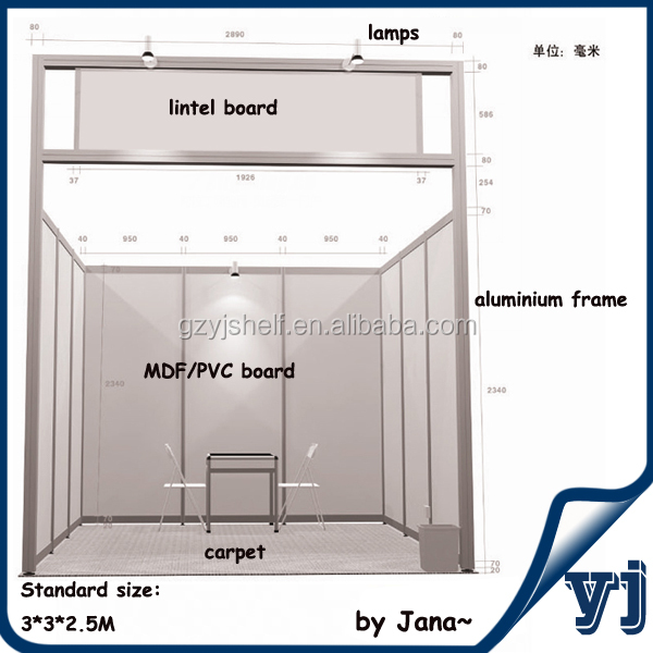 Exhibition Booth Standard Size : Standard exhibition booth material aluminium