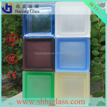 decorative building material stained or clear pattern glass block