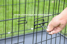 folding metal wire dog crate,double door wire mesh pet crate