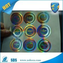 Hologram Self-adhesive Sticker/security laser sticker/3d anti-fake hologram label
