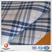 yarn dyed cotton navy plaid space dye poplin from shirt fabric manufacturer