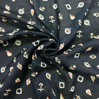 50D*60S polyester voile fabric/ print scarf fabric/ print spun polyester fabric