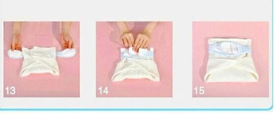 Как сделать подгузник из марли новорожденному 886