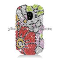 Full Diamond Sunflower Designs Snap On Cover Case for Alcatel 871A