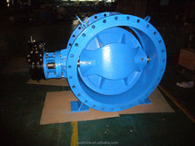Rubber-lined Eccentric double Flanged Butterfly Valve For Seawater