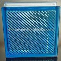SAPPHIRE OBLIQUE LINE GLASS BLOCK 190*190*80mm
