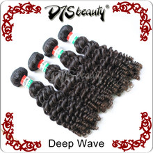 Indian deep wave hair by the bundles sale 12-30inch mix length dyeable bleachable 5a virgin human hair Remy Indian curly