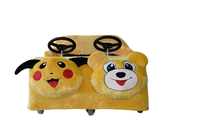 2015 amusement park kids electric Pikachu-shape race car for sale