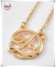 Gold Tone Metal / Lead&nickel Compliant / Initial D / Necklace