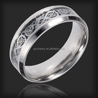 Beautiful Design Sliver Carbide Tungsten Dragon Scroll Inlay Ring Mens Wedding Band Size 8 Fit For Many Occasion Good Q