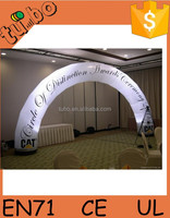 2015 cheap led inflatable rainbow arch/ round arch doors / inflatable finish line arch for sale