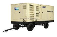 28m3/min at 25bar Doosan diesel high pressure portable screw air compressor for drilling dig