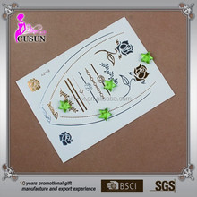 Many Kinds Pattern Metallic Gold Silver Temporary Tattoos Jewelry Flash Body Bling