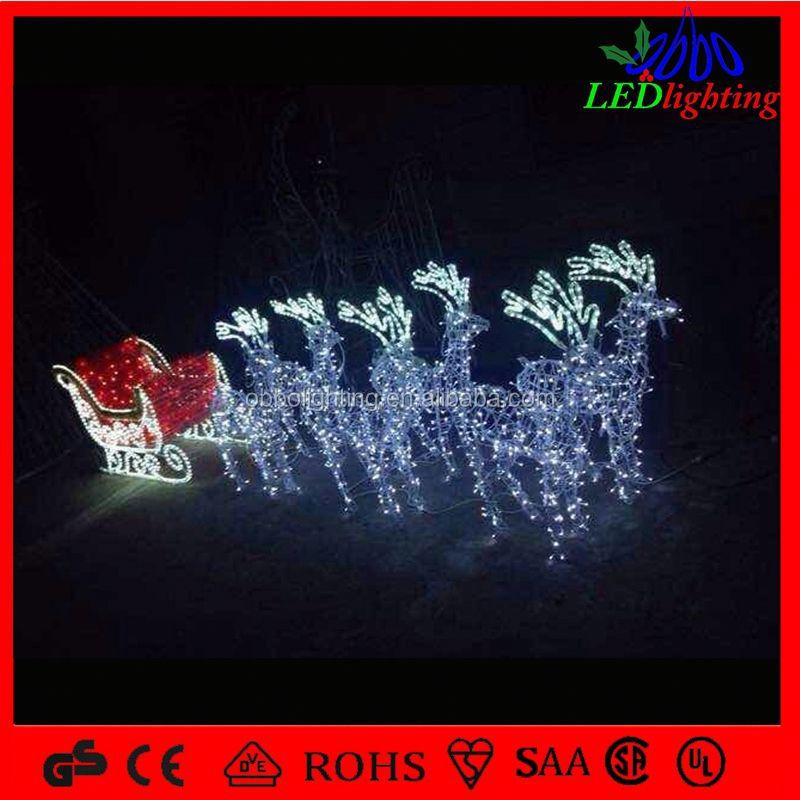 Outdoor flood lights for christmas : Festival decoration large outdoor christmas reindeer light