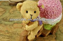 factory direct resin bear cheap polyresin craft