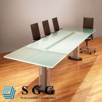 High Quality tempered conference table glass top