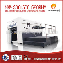 Semi-automatic Die cutting machine with creasing for cardboard carton making direct factory