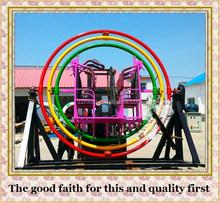 Theme Park Kids Rides Human Gyroscope For Sale