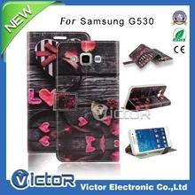 New printing designer leather flip case for Samsung Galaxy Grand Prime G530