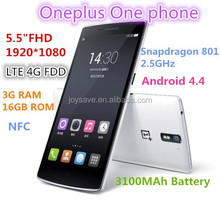 """Oneplus one plus one 4G LTE smartphone 5.5"""" FHD 1920x1080 FDD Snapdragon 801 2.5GHz 3G RAM 64G Android 4.4 NFC"""