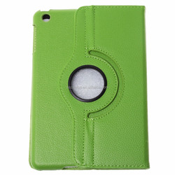 2015 Portable 360 Rotating Flip Leather Tablet Case for iPad Mini (Green)