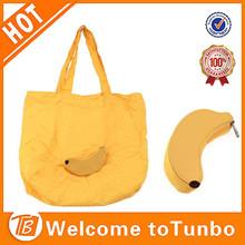 Banana fruit shape promotion bags shopping folding,wholesale reusable fabric bags