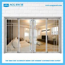 China double insulated glass interior decorative sliding door