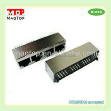 Top Entry RJ45 Network Connector 1*4