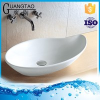 GT-402B without faucet hole leaf shape wash basin for bathroom