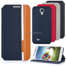 For Samsung Galaxy S4 I9500 High Quality 2x Colors Flip Wallet PU Leather Buniness Case Cover Moible Phone Csae