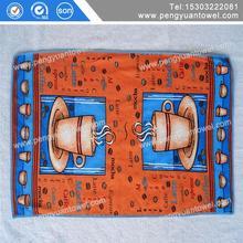 cheap woven dish towel cotton fabric kitchen tea linen towel