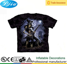 DJ-T-004 skull t-shirt 3D dry fit man brand t-shirt manufacturer in china wholesale