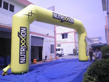 New design blue advertising angle inflatable PVC archways
