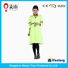 Maiyu fashion lady windbreak plastic rain cover raincoat