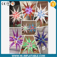 2015 party decoration illuminate LED lighted inflatable star for Christmas,festival decoration