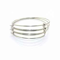 Wholesale Alex and Ani Style Children size 50mm Simple Wire Expandable Wire Bangle for Jewelry DIY