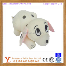 Interesting plush cute spotted dog with big eyes toy for kids
