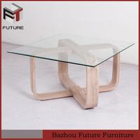 german solid wood coffee table with glass top