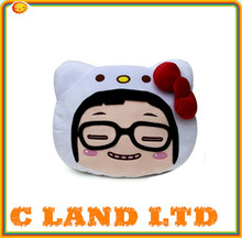 45cm Hot cute full face cartoon plush pillow any design available