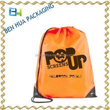 Nylon Shopping Bag Custom Printed Drawstring
