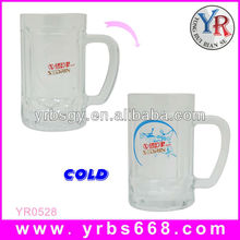 hot sale 400ml drinking glass beer mug with handle